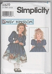 DAISY KINGDOM~CHILD~DOLL DRESS PATTERN~5929
