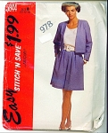 MCCALLS EASY LADIES SUIT SZ10-14