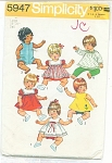 SIMPLICITY~PATTERN  5947~BABY DOLL~15-17 IN~