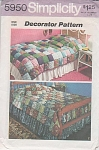 Click here to enlarge image and see more about item 5950: VINTAGE~70s~PUFF COVERLET PATTERN TWIN~FULL