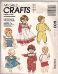 Click here to enlarge image and see more about item 603: MCCALL BABY DOLL CLOTHES~