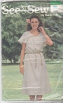 VINTAGE~BUTTERICK~DRESS~LG 16-18~UNCUT