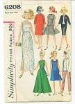 VINTAGE BARBIE SIZE WARDROBE PATTERN 1965