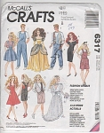 McCall 6317 1978 Doll Clothes Pattern 11.5