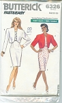 Click here to enlarge image and see more about item 6326P: BUTTERICK FAST AND EASY DRESS 6326~14-16-18