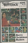 Click here to enlarge image and see more about item 6342: VINTAGE~ MERRY  CHRISTMAS MAKERS~OOP~1970'S?