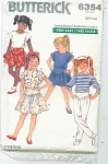 BUTTERICK 6354 VINTAGE GIRLS EASY COULTURE