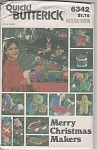 Click here to enlarge image and see more about item 6432: VINTAGE~BUTTERICK~CHRISTMAS ~MAKERS~OOP