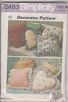 Click to view larger image of THROW PILLOWS ~Simplicity 6483 ©1974 (Image1)