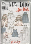 New Look~6493~CLASSIC Girls Dresses~Tops~OOP