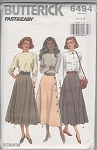 MISSES~3 SKIRTS~BUTTERICK~FAST & EASY~12-16