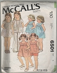 McCalls~SZ 5~GIRLS SUMMER OUTFITS~OOP~6501