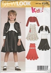 Click to view larger image of NEW LOOK~GIRLS DRESS~JACKET~SZ-A 3-8~UNCUT (Image1)