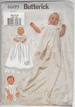 Click here to enlarge image and see more about item 6609: CHRISTENING GOWN~BONNET~JUMPSUIT~UNCUT