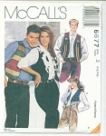 Click here to enlarge image and see more about item 6677: VINTAGE McCALLS VEST  6677