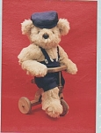 Click here to enlarge image and see more about item 670: VINTAGE~19 INCH TEDDY BEAR~CHAD~SUIT~UNCUT