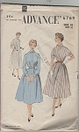 Click here to enlarge image and see more about item 6769: ADVANCE~sz:14 Bust 32~ MISSES' DRESS~6769
