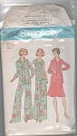 Click here to enlarge image and see more about item 6854: VINTAGE~ MISSES BLOUSE~TOP~SKIRT~WIDE PANTS~