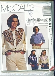 McCALL'S~ CREATIVE WOMAN'S~SHIRT PATTERN