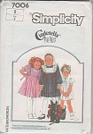 Click here to enlarge image and see more about item 7006: SIMPLICITY~CINDERELLA~GIRLS DRESS~SZ 6~