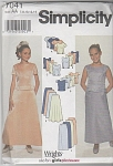 Click here to enlarge image and see more about item 7041AA: VINTAGE~FORMAL SKIRT &TOPS~SZ 7-14~UNCUT