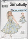 GIRLS~ DOLL~OCCASION DRESS PATTERN~ UNCUT