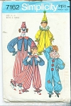 VINTAGE 1975 CLOWN COSTUME 7162