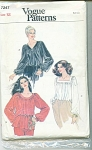 VINTAGE~VOGUE~BLOUSE~SZ 12~ FREE SHIPPING
