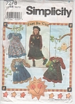 SIMPLICITY 7278~GIRLS~PINAFORE~DRESS PATTERN~