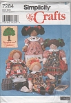SIMPLICITY~7284~22IN DOLLS~CLOTHES~UNCUT~OOP