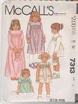 VINTAGE~MCCALLS GIRLS DRESS~SZ 5~OOP~7313