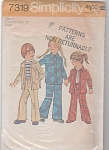 Click here to enlarge image and see more about item 7319: Child's UNLINED SHIRT-JACKET & PANTS - Simpli