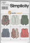 Click here to enlarge image and see more about item 7357: Simplicity~Pattern~7357~Child / Girls Vests