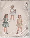 Click here to enlarge image and see more about item 7366: 1948 vintage pattern FANCY DRESS Round Yoke S