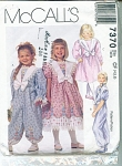 MCCALLS PATTERN 7370 GIRLS DRESS AND JUMPSUIT