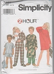 Click here to enlarge image and see more about item 7407: SIMPLICITY~2 HOUR~ PATTERN~7407 SLEEPWEAR~SZ