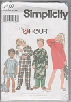 Click here to enlarge image and see more about item 7407AA: SIMPLICITY~2 HOUR~ PATTERN~7407 SLEEPWEAR~SZ