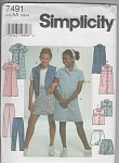 Click here to enlarge image and see more about item 7491: SIMPLICITY~7491~SZ 7-10~~GIRLS WARDROBE~OOP
