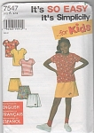Click here to enlarge image and see more about item 7547: SIMPLICITY~GIRL'S SKORT~SHORTS~TOP~Sz:3-12