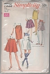 VINTAGE~SIMPLICITY 7595~SET~SKIRTS~2 LENGTHS