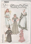 Click here to enlarge image and see more about item 7650: PILGRIM/ANGEL/WITCH/PRAIRIE FLR GOWN PATTERN