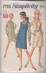 Click here to enlarge image and see more about item 7763: Vintage Pattern~MOD DRESS JUMPER SHIRT-DRESS~