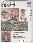 Click here to enlarge image and see more about item 7773: GINGERBREAD HOUSE~DOLLS~STOCKING~ORNAMENT~U/C