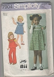 Click to view larger image of VINTAGE~JIFFY~SIMPLICITY~SZ 5~GIRLS~7904~OOP (Image1)