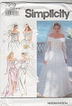 Click here to enlarge image and see more about item 7919: WEDDING DRESS~ OFF THE SHOULDER STYLE~