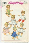 SIMPLICITY BABY DOLL PATTERN 7970 15-17IN