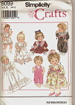 Click here to enlarge image and see more about item 8099: Simplicity 8099  Doll Clothes Sewing Pattern