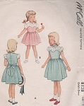 Click here to enlarge image and see more about item 8128: 1950 vintage pattern Bra styled bodice DRESS