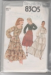 Click to view larger image of VINTAGE~Pullover Peasant Blouse Skirt~OOP~19 (Image1)