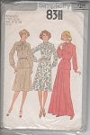 VINTAGE~DRESS~PATTERN~LONG~SHORT~1977